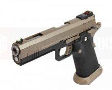 Armorer Works Custom Hi-Capa GBBP (Full FDE Slide – Black Frame – AW-HX1103) image