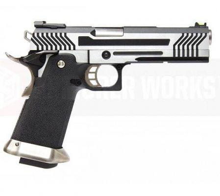Armorer Works Custom Hi-Capa GBBP (Full Silver Slide – Black Frame) product image