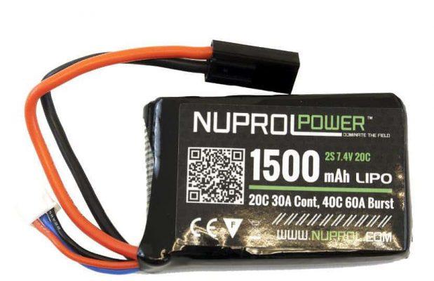 Nuprol 1500MAH 7.4V 20C PEQ Micro lipo product image