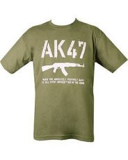 AK47 T-Shirt – Olive Green image