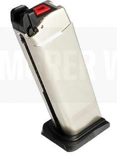 Armorer Works Custom Hex-Cut Gas Magazine Silver product image