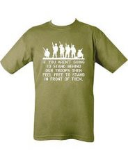 Behind Troops T-Shirt (Green) image