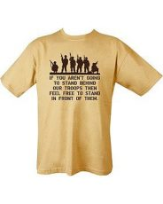 Behind Troops T-shirt (Sand) image