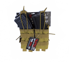 NP PMC AK Double Open Mag Pouch – Tan image