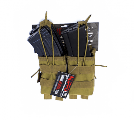 NP PMC AK Double Open Mag Pouch – Tan product image