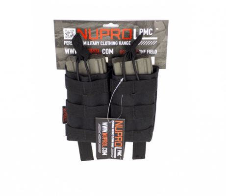 NP PMC M4 DOUBLE OPEN MAG POUCH – BLACK product image