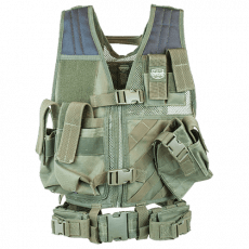 Valken Crossdraw Vest Youth – Olive Green image