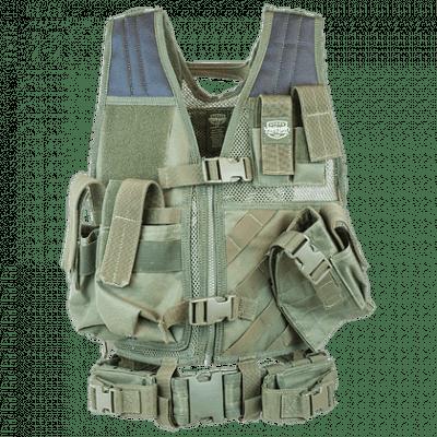 Valken Crossdraw Vest Youth – Olive Green product image