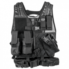 Valken Crossdraw Vest Youth – Black image