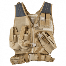 Valken Crossdraw Vest Youth – Tan image