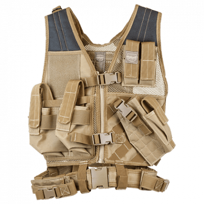 Valken Crossdraw Vest Youth – Tan product image