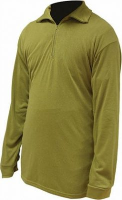 Highlander Norwegian Shirt Black & Olive Green product image