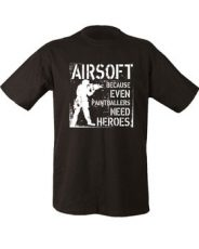 Paintballers Need Heroes T-shirt – Black image
