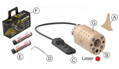 Laser Led XG110DE – Red Laser product image
