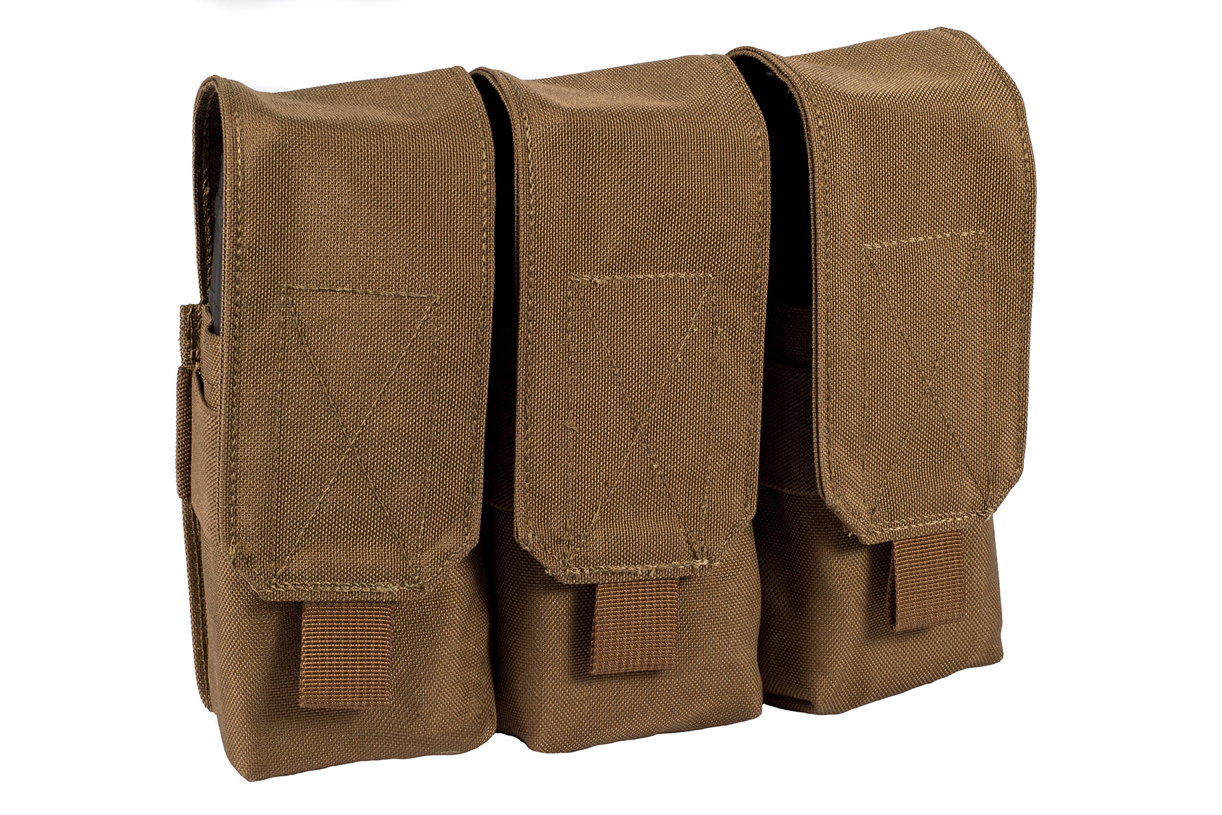 Stirling Tactical Triple Closed Magazine Pouch – Coyote Brown product image