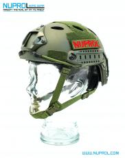 Nuprol Fast Railed Helmet Green image