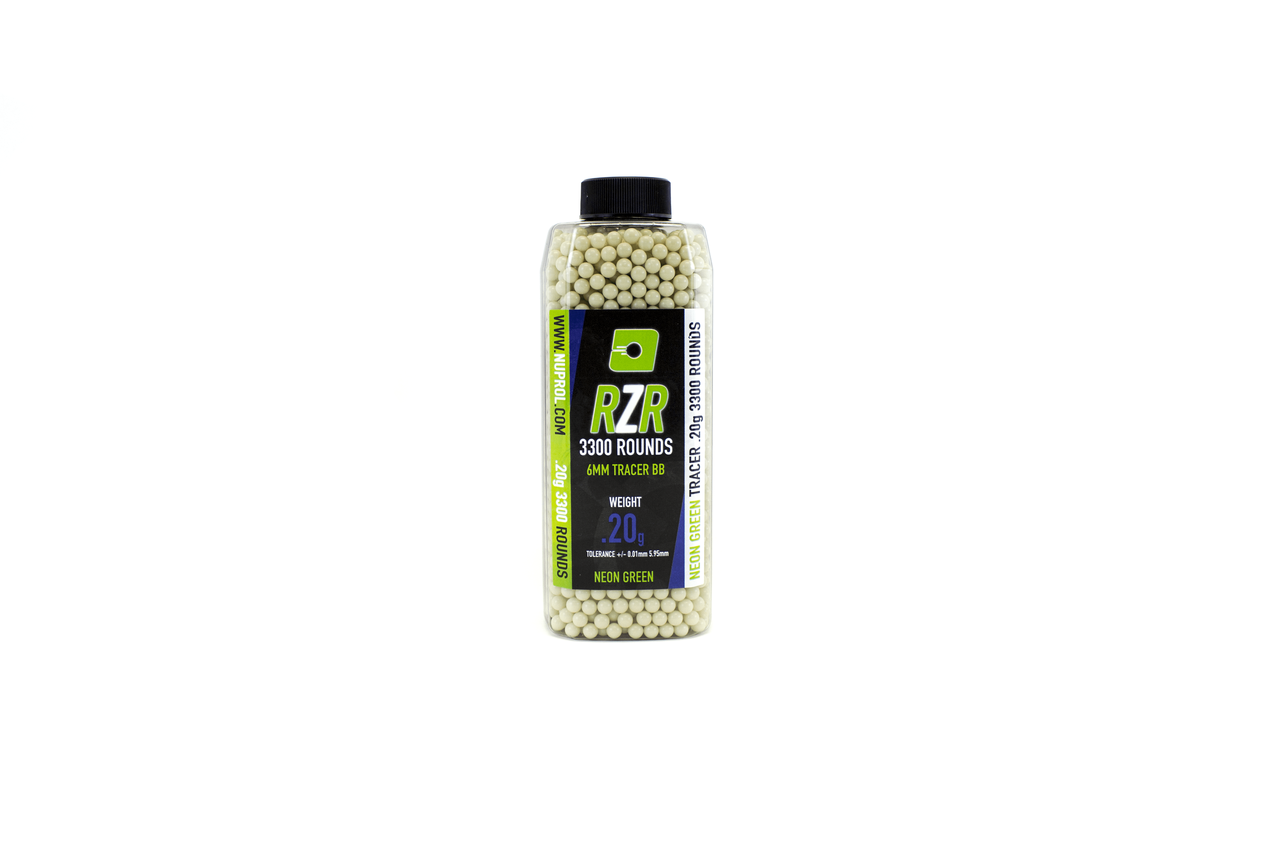 Nuprol RZR 3300Round 0.20G Green Tracer BB's product image