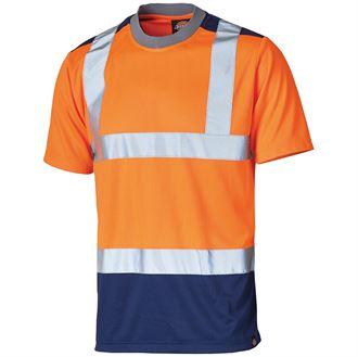 Dickies Hi-Vis Two Tone T-Shirt (Orange) product image