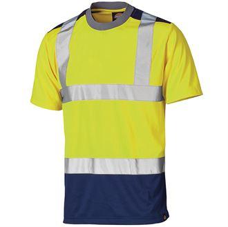 Dickies Hi-Vis Two Tone T-Shirt (Yellow) product image