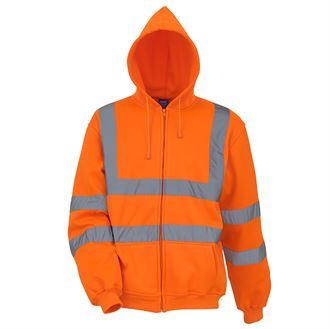 YOKO Hi-Vis Zip Hoodie (Orange) product image