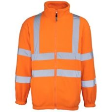 RTY Hi-Vis Zip Fleece Jacket (Orange) image
