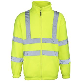 RTY Hi-Vis Zip Fleece Jacket (Yellow) product image