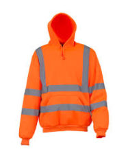 YOKO Hi-Vis Pull Over Hoodie (Orange) image