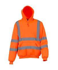 YOKO Hi-Vis Pull Over Hoodie (Orange) product image