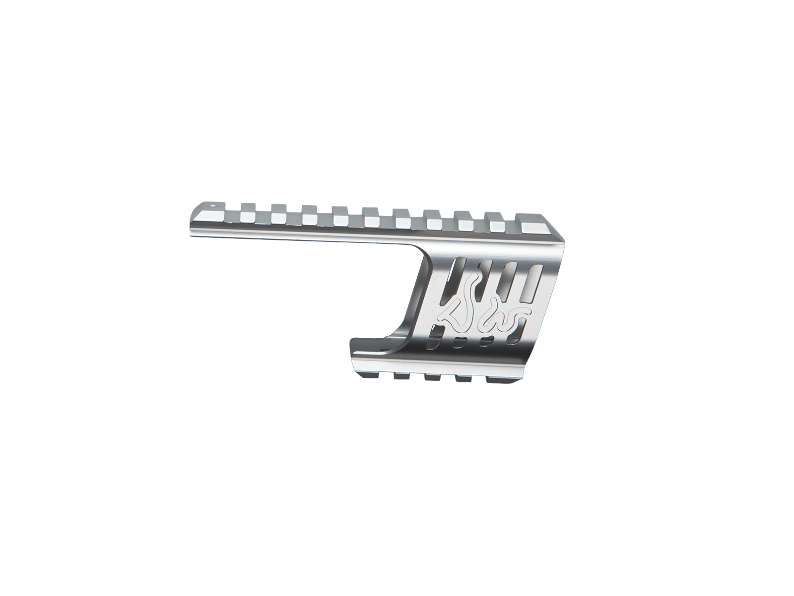 ASG Custom CNC Rail Mount for Dan Wesson 715 Silver product image