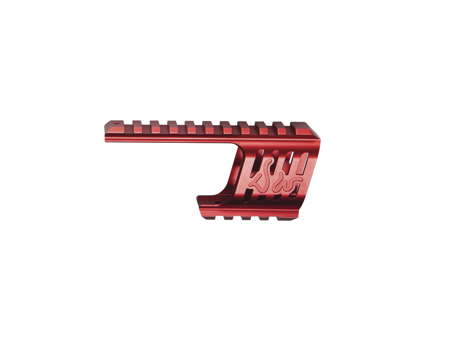 ASG Custom CNC Rail Mount for Dan Wesson 715 Red product image