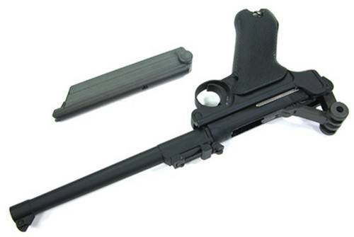 WE P08 Luger (L) 8″ GBB Pistol product image