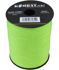 Kombat Paracord – 100m Reel – Neon Green image