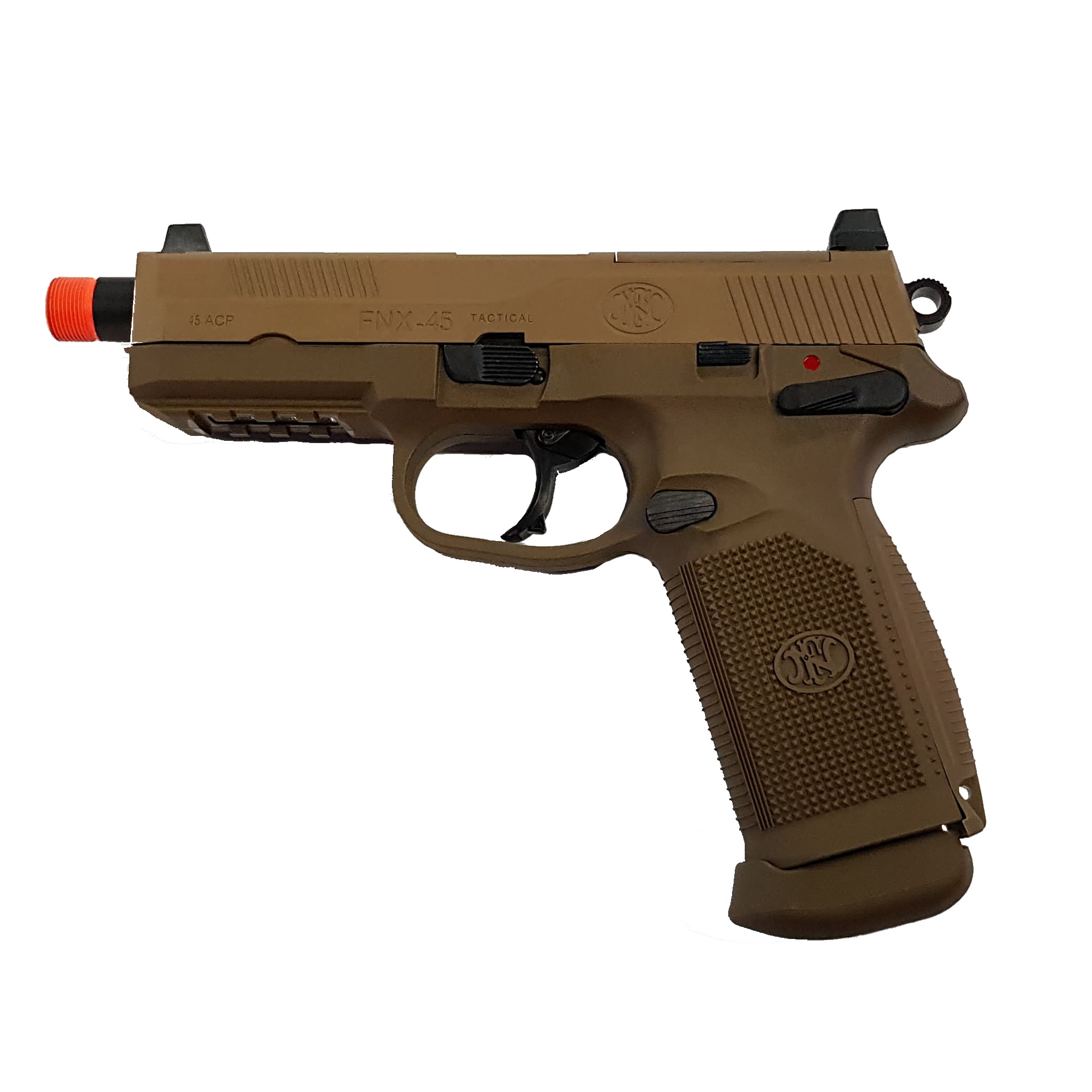 FN Herstal FNX-45 Tactical Dark Earth Gas Blow Back product image