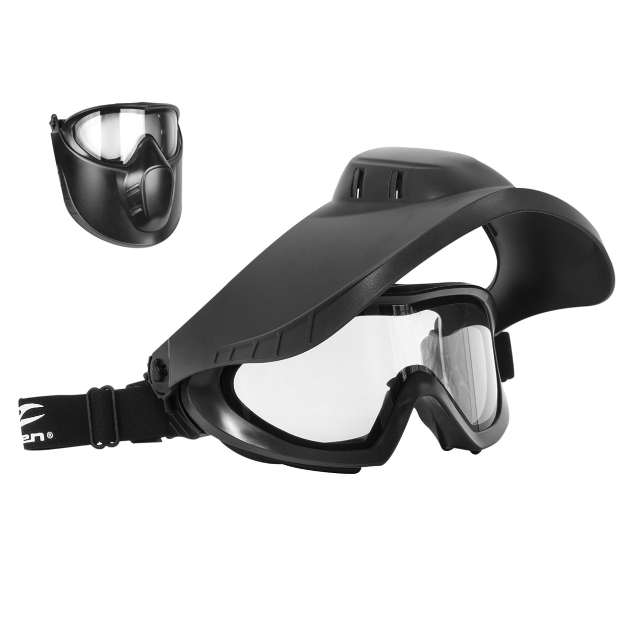 Valken VSM Thermal Goggles w/ Face Shield – Black – CLEAR product image