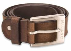 MILANO LEATHER BELT BROWN SMALL image