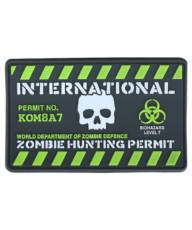 Kombat Zombie Hunting Permit Patch image