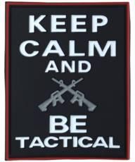 Kombat Keep Calm & Be Tactical Patch image