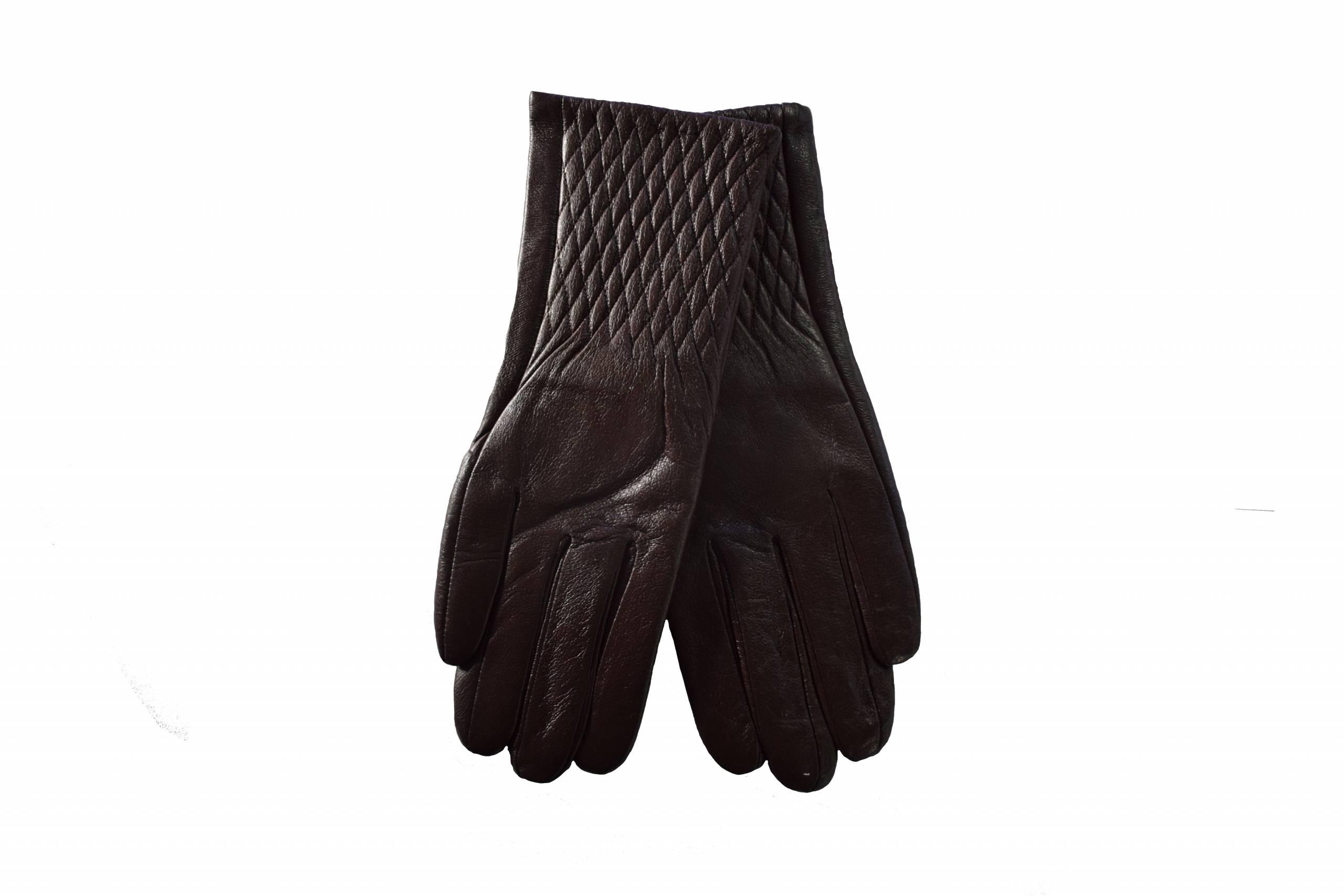 Quivano ladies leather glove brown xs product image