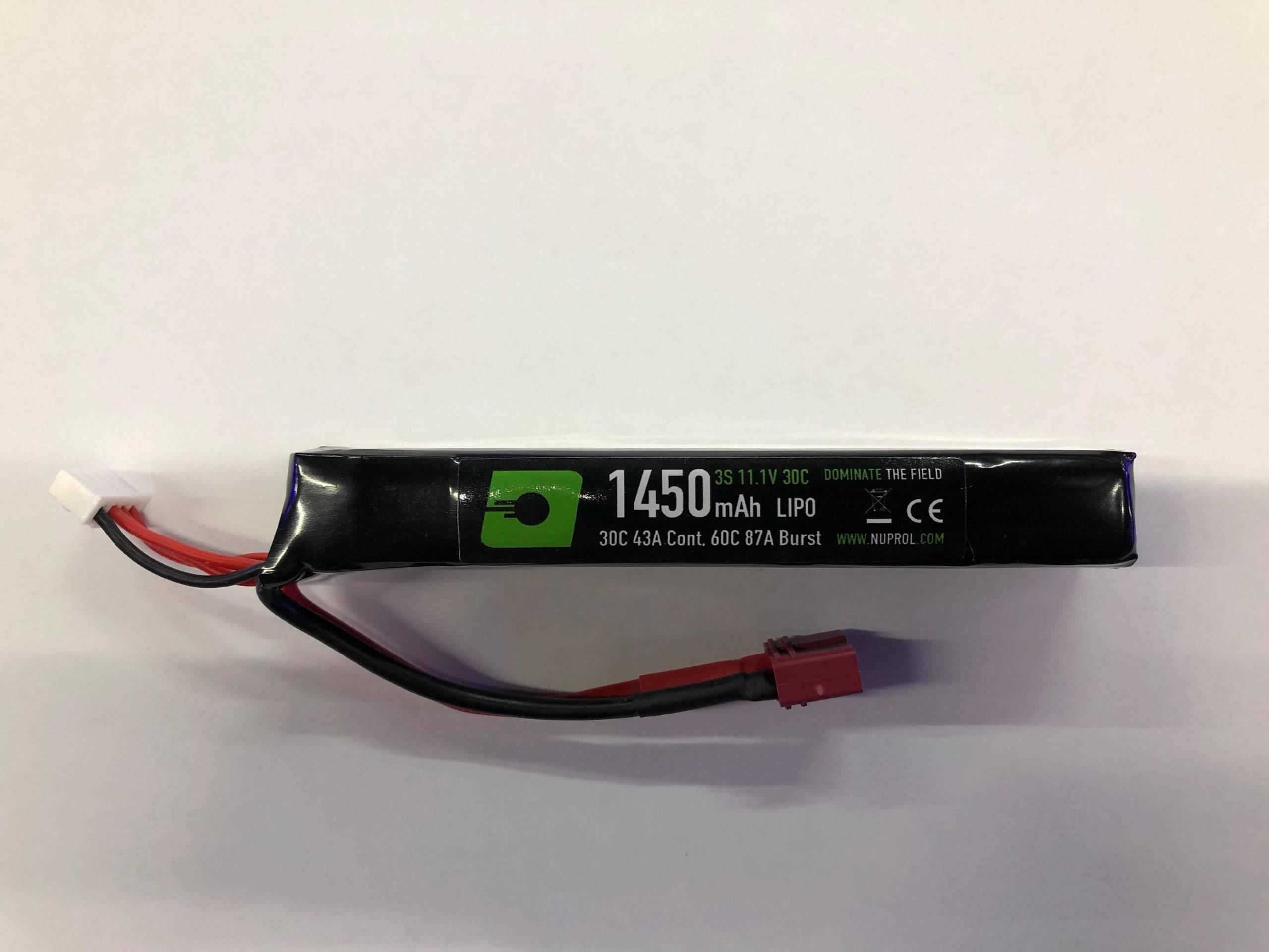 NUPROL 1450MAH 11.1V 30C LIPO STICK TYPE – DEANS product image