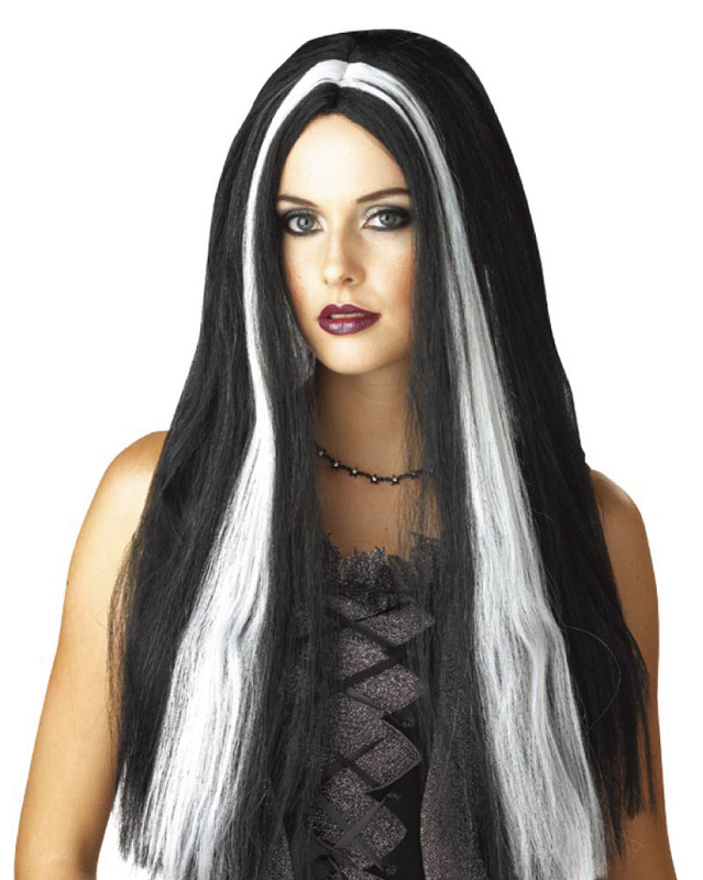 24 inch 61cm Witch/Vampire Streaked Wig product image