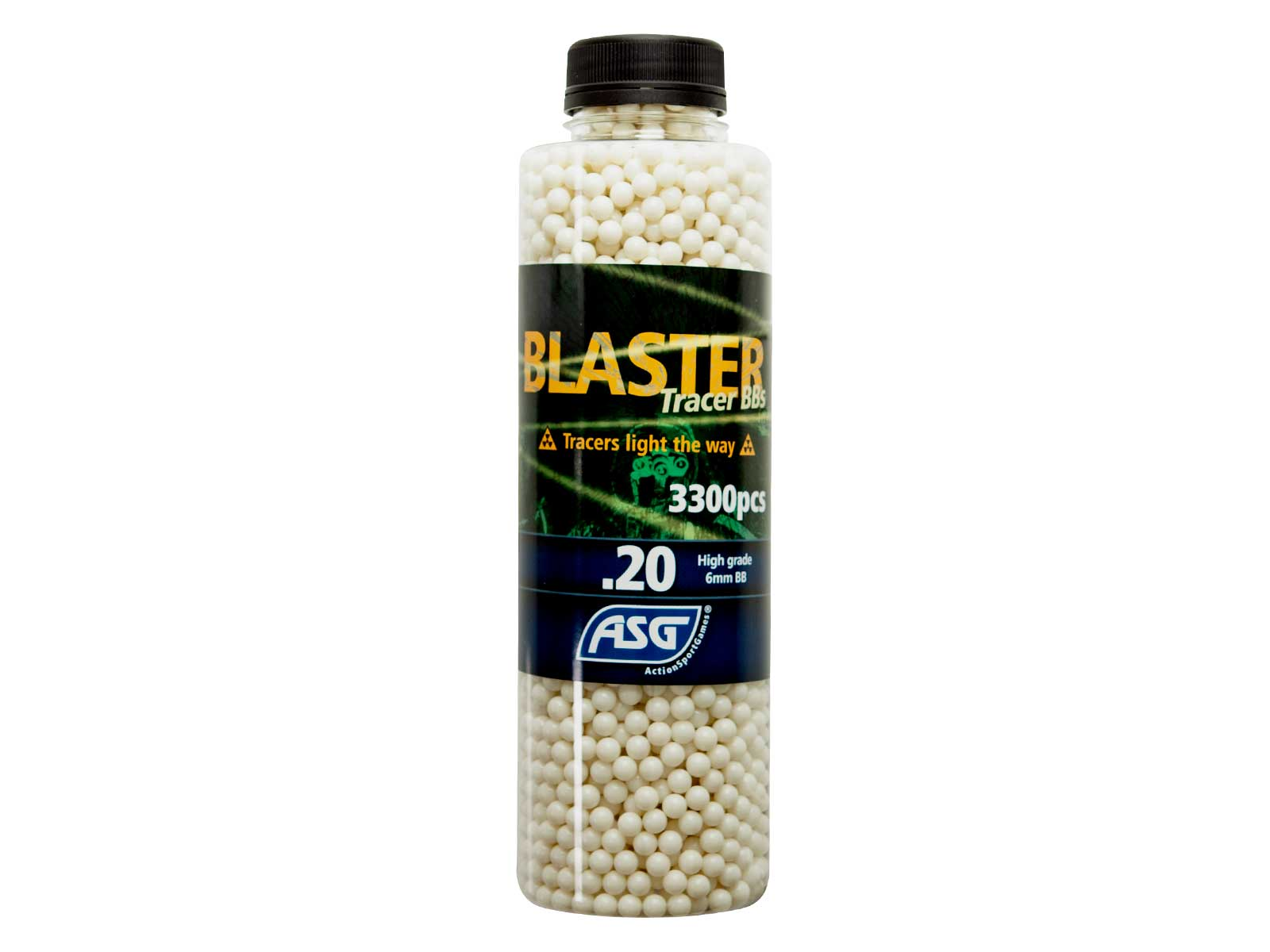 Blaster Tracer 0,20g Airsoft BB in green color -3300 pcs. in bottle product image