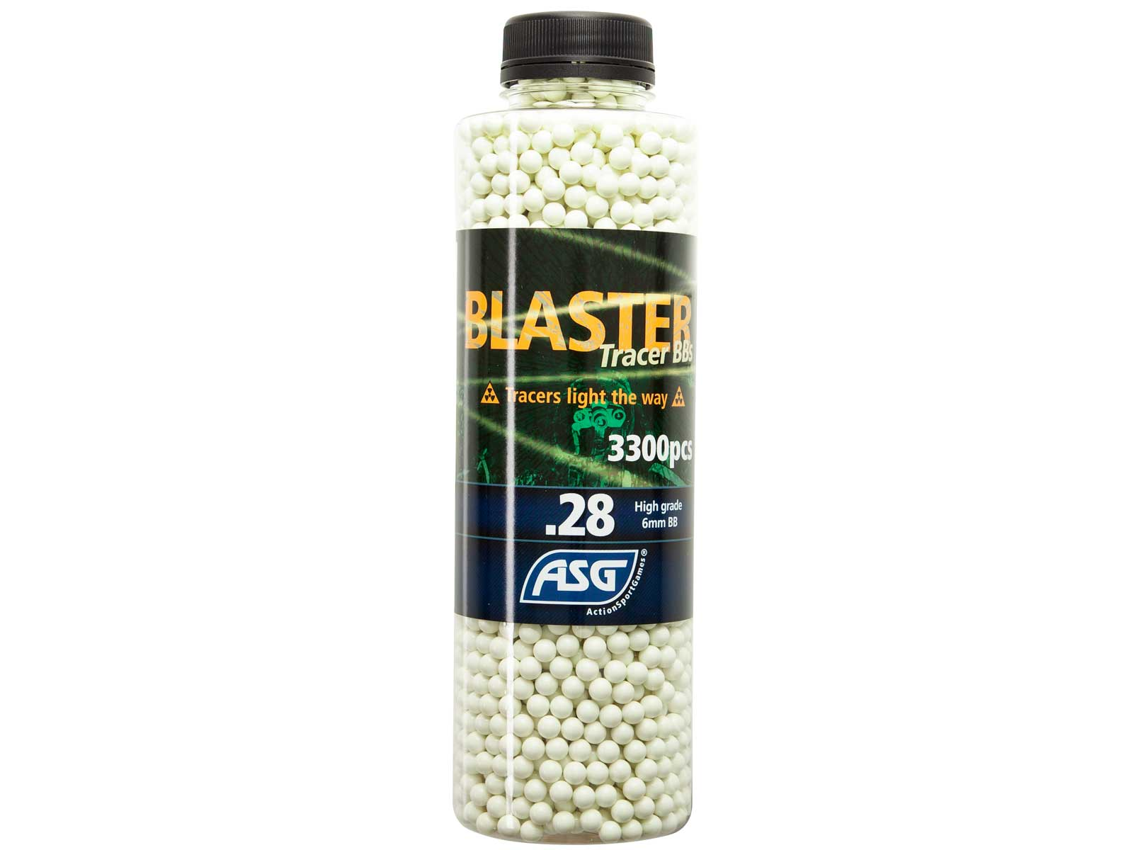 Blaster Tracer 0,28g Airsoft BB in green color -3300 pcs. in bottle product image
