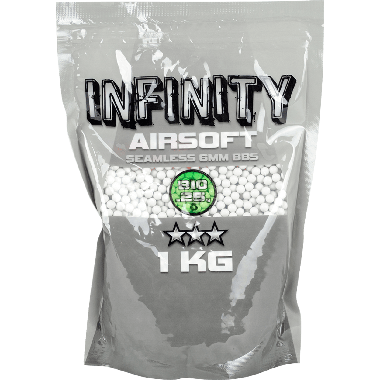 Valken Airsoft BBs – Infinity 0.25G BIO, 4,000 count, White product image