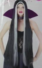 91cm Black Streaked Wig image