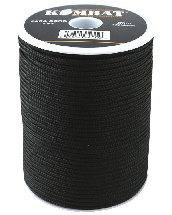 Paracord – 100m Reel Black product image