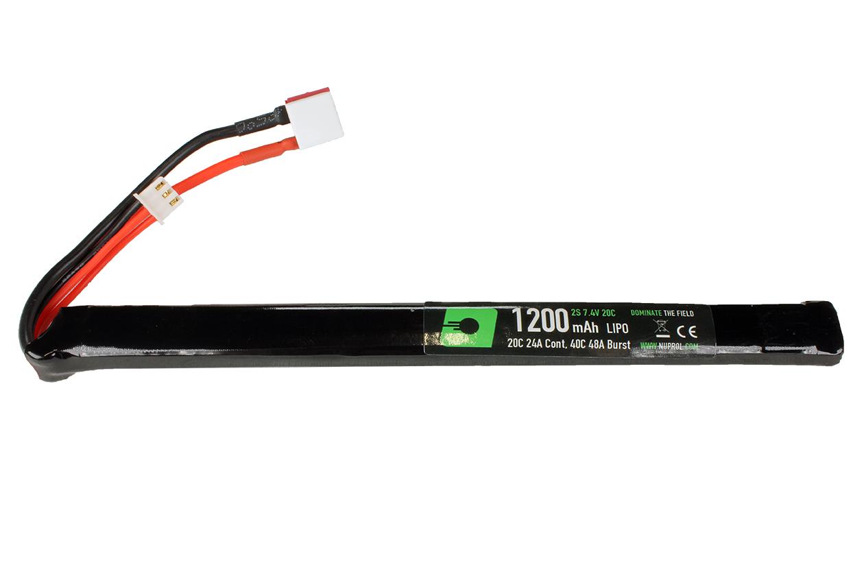 NUPROL  POWER 1200MAH LIPO 7.4V 20C SLIM STICK – DEANS product image
