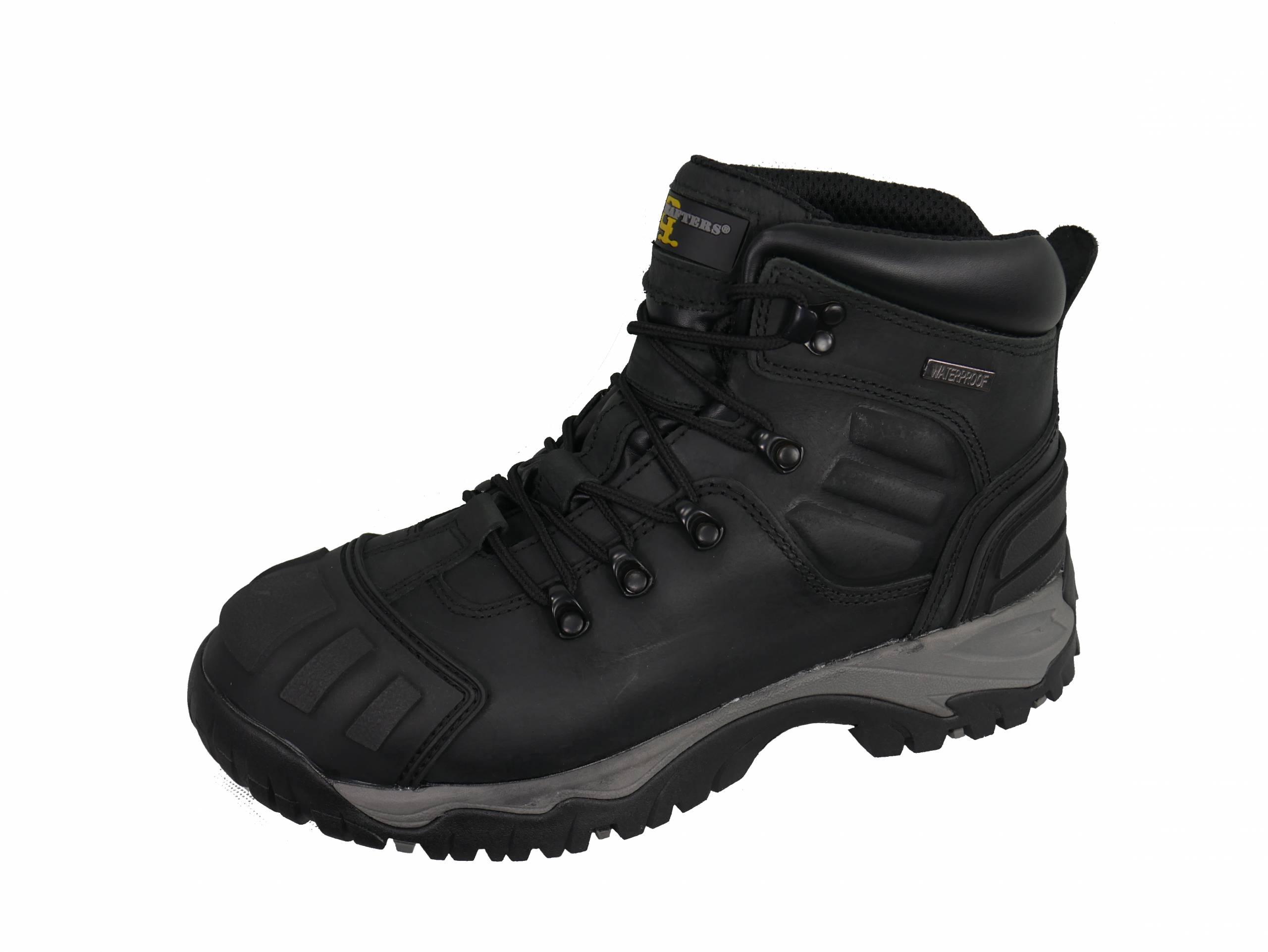 Full Grain Buffalo Leather Black Boots product image