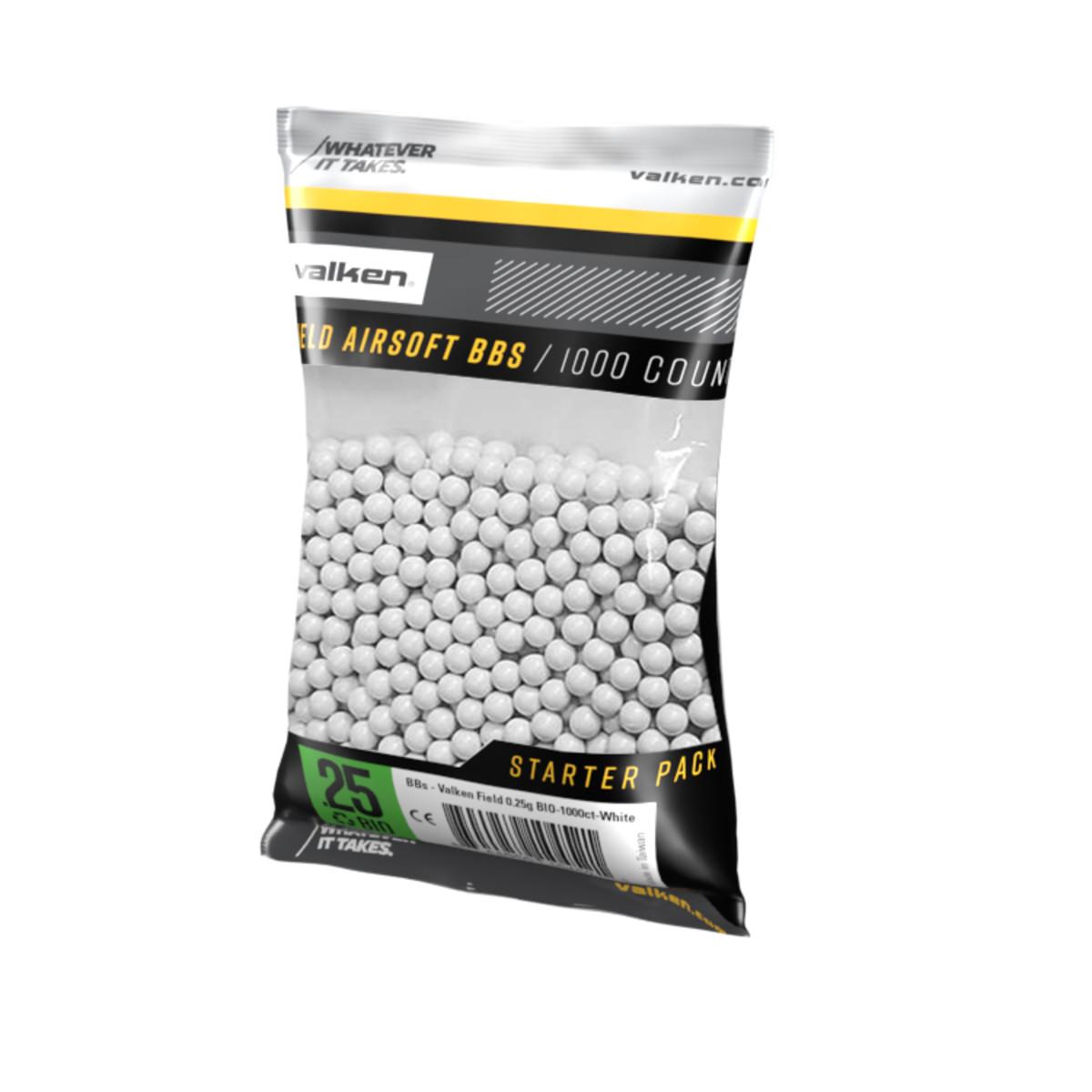 BBs – Valken Field 0.25g BIO-1000ct-White product image