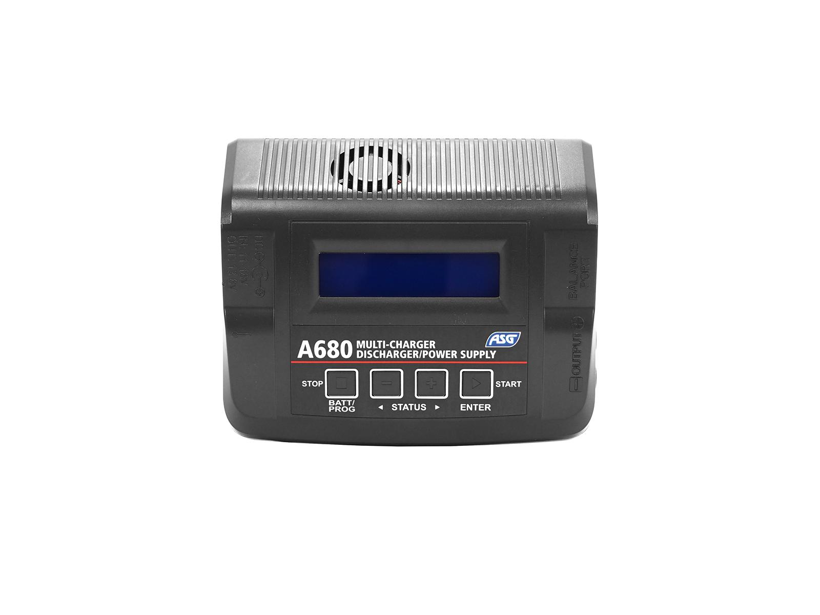 ASG A680 Charger – LiPo NiMH NiCd LiFe LiHV Pb, UK Plug product image