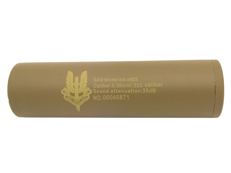 CCCP SAS Silencer (Full Metal – 110mm in Length – Plain – Tan) product image